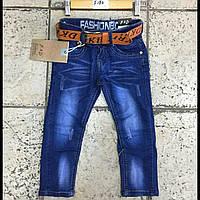 Детские джинсы на мальчика с ремнём F&D