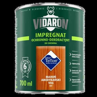 Видарон импрегнат Vidaron impregnat 9 л благородное красное дерево v15