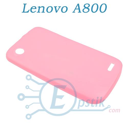 Чехол силиконовый для Lenovo A800 Розовый