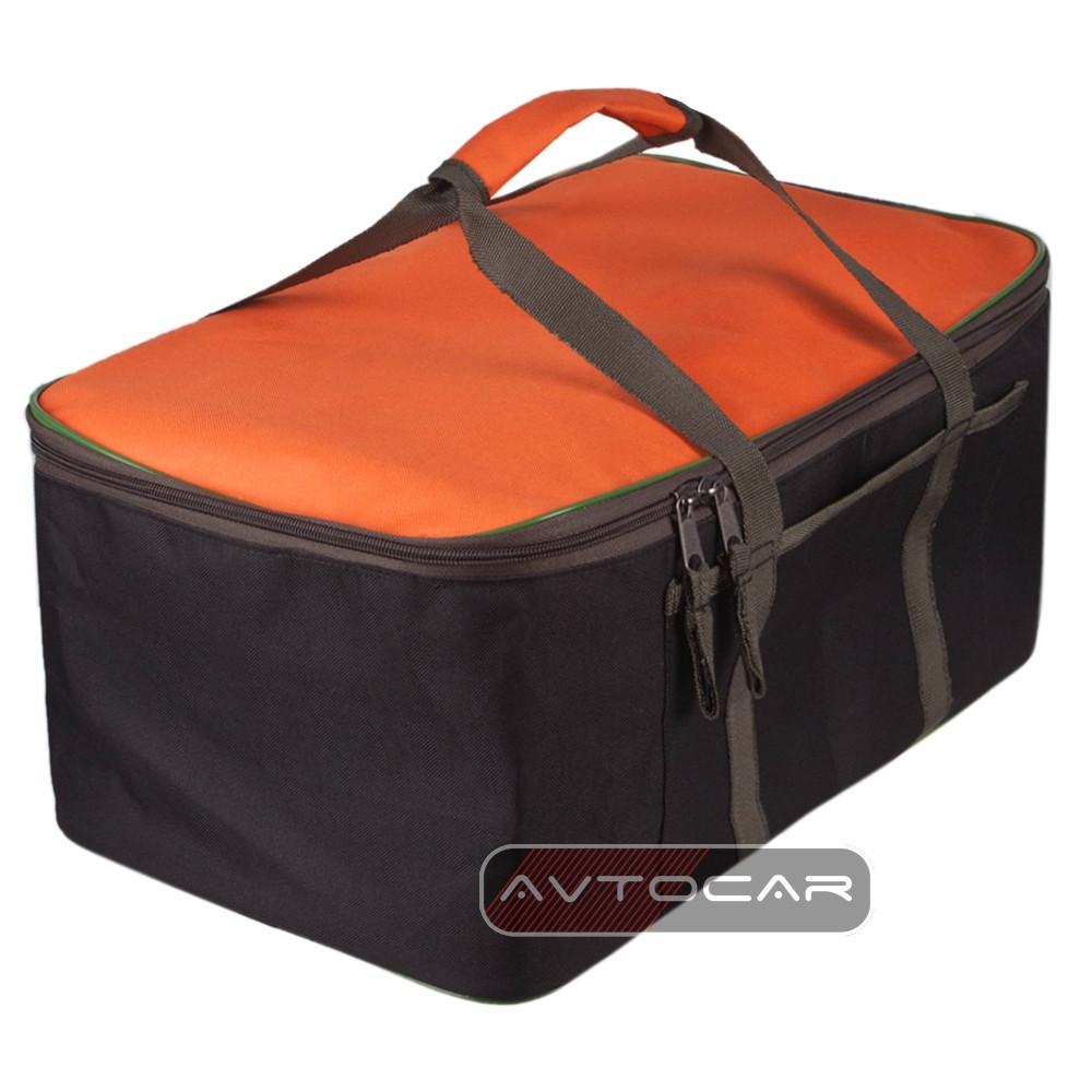 Cумка-органайзер в багажник цвет: черный с оранжевым размер: 480х300х200мм