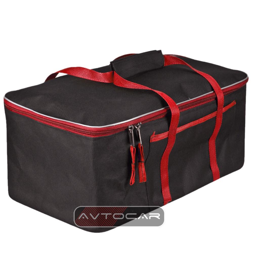 Cумка-органайзер в багажник цвет: черный с красным размер: 480х300х200мм