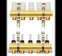 Коллектор на 8 выходов для теплого пола 2-ой  с расходомерами