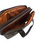 Сумка из натуральной кожи для ноутбука коричневая 21165, фото 2
