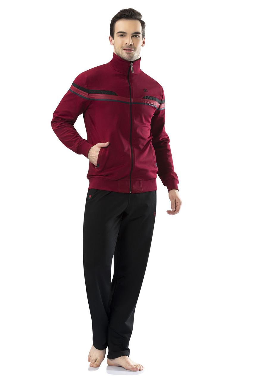 Спортивный костюм мужской бордовый пр-во Турция FM17407-4