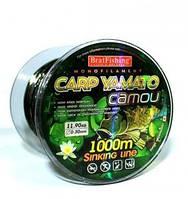 Леска рыболовная BratFishing CARP YAMATO camou 1000m (камуфляж) 0.33