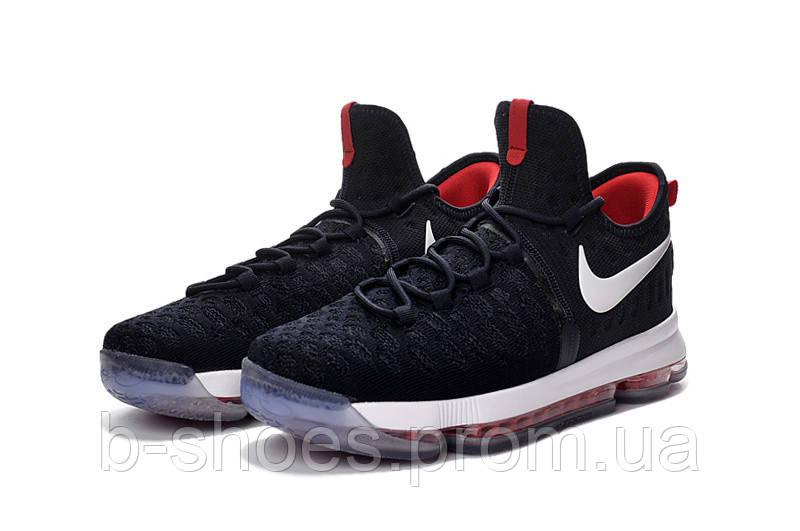 Детские баскетбольные кроссовки Nike KD 9 (Black/Red/White)