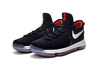 Детские баскетбольные кроссовки Nike KD 9 (Black/Red/White), фото 1