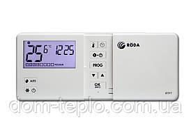Програматор(термостат) кімнатний бездротовий тижневий Roda RTF7