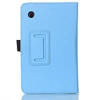 Кожаный чехол-книжка TTX с функцией подставки для Lenovo Tab 3 Essential 710/710L/710F Голубой