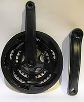 Система тройная 48 зубьев металлическая в пластике, черная