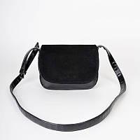 Женская сумочка с замшевым клапаном удобная и красивая М55-47/замш