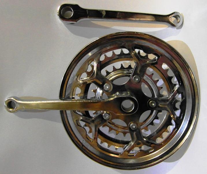 Система тройная под круглый вал хром 48 зубьев с металлической защитой