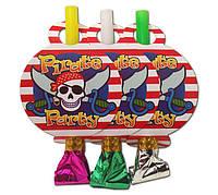 """Язычок - гудок карнавальный """"Пираты"""", 6 шт/уп."""