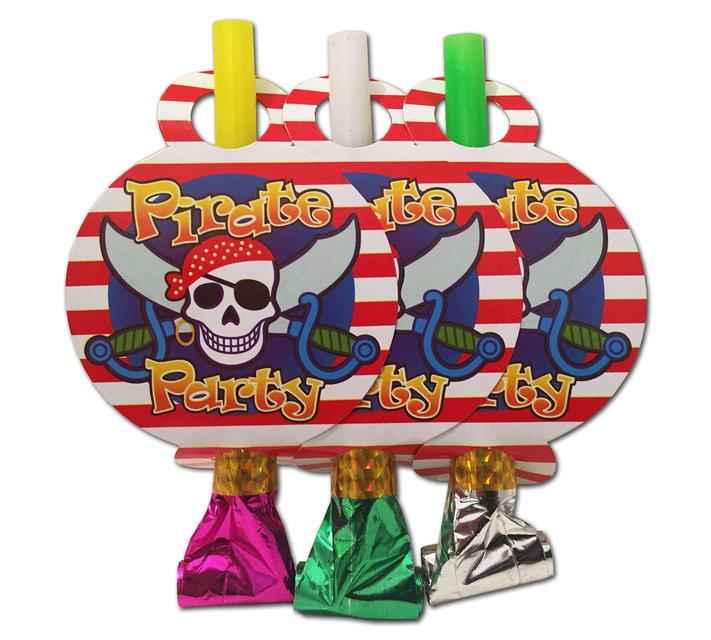 """Язычок - гудок праздничный """"Пираты"""", 6 шт/уп."""