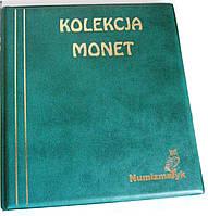 Подарочный альбом для монет Kolekcja 221 ячейка Зеленый