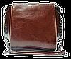 Сумка женская кожаная коричневого цвета на плечо с цепочкой LLA-000778