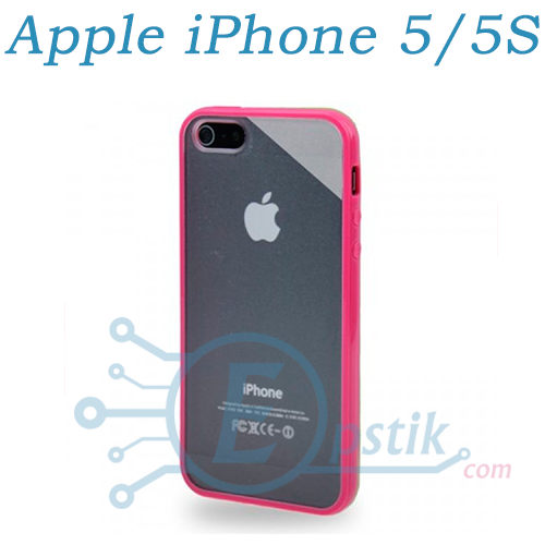 Чехол прозрачный для Apple iPhone 5, 5S Розовый