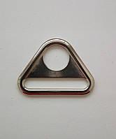 Треугольник литой для сумок 40 мм никель