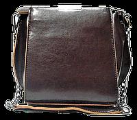 Женская сумка кожаная коричневого цвета на плечо с цепочкой LLA-044578, фото 1