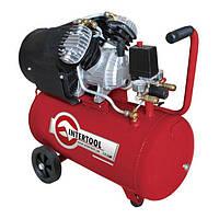 Компрессор 50 л, 2.23 кВт, 8 атм, 354 л/мин, 2 цилиндра INTERTOOL PT-0004