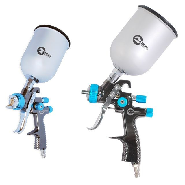 Краскораспылитель пневматический LVLP BLUE NEW INTERTOOL PT-0133