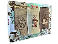 Вафельное кухонное полотенце - Beyza - Coffe - 3 шт. - 40*60 - 100% хлопок - Турция -, Харьков