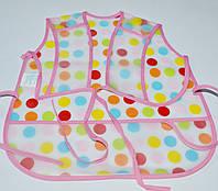 Слюнявчики-фартуки из пвх на завязках для детей. 1