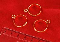 Основа для колец Margo 8х3 мм , Золото