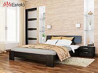 Двухспальная кровать деревянная Титан (Бук) щит