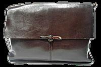 Прекрасная женская сумка из натуральной кожи на плечо коричневого цвета IGF-228231