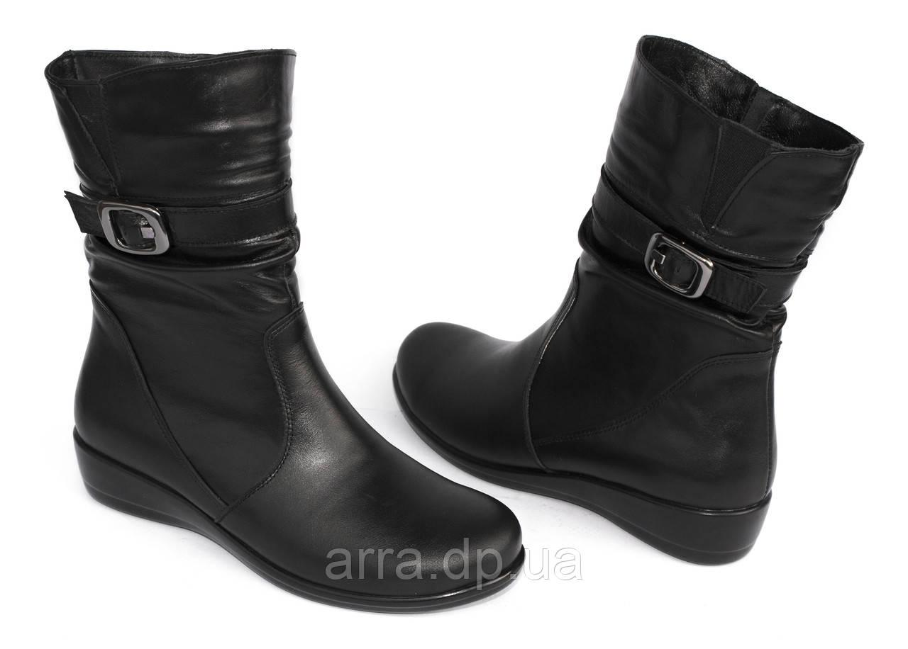 Комфортные кожаные ботинки-баталы; по 42 размер.