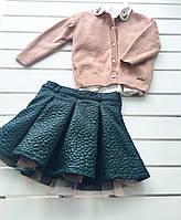Детский костюм - кофта рубашка юбка - для девочки на 2-3 года