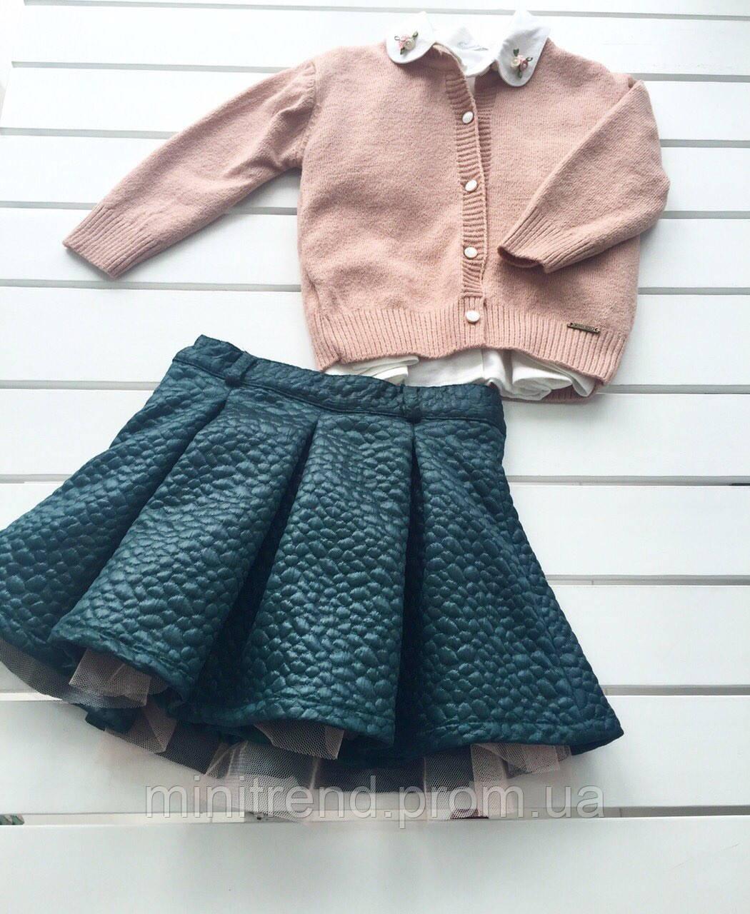 Детский костюм - кофта рубашка юбка - для девочки на 2-3 года  - Интернет-магазин детской одежды MiniTrend в Одессе