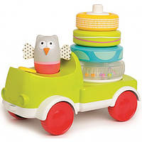 Taf Toys Развивающая машинка с пирамидкой Taf Toys Совушка-малышка: 2 в 1 (11945)