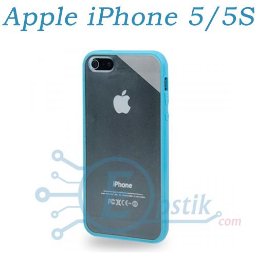 Чехол прозрачный для Apple iPhone 5, 5S Голубой