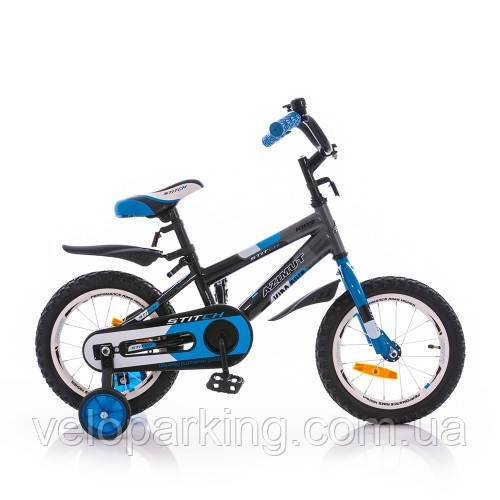 """Детский двухколесный велосипед Azimut Stitch 16"""" new (2017)"""