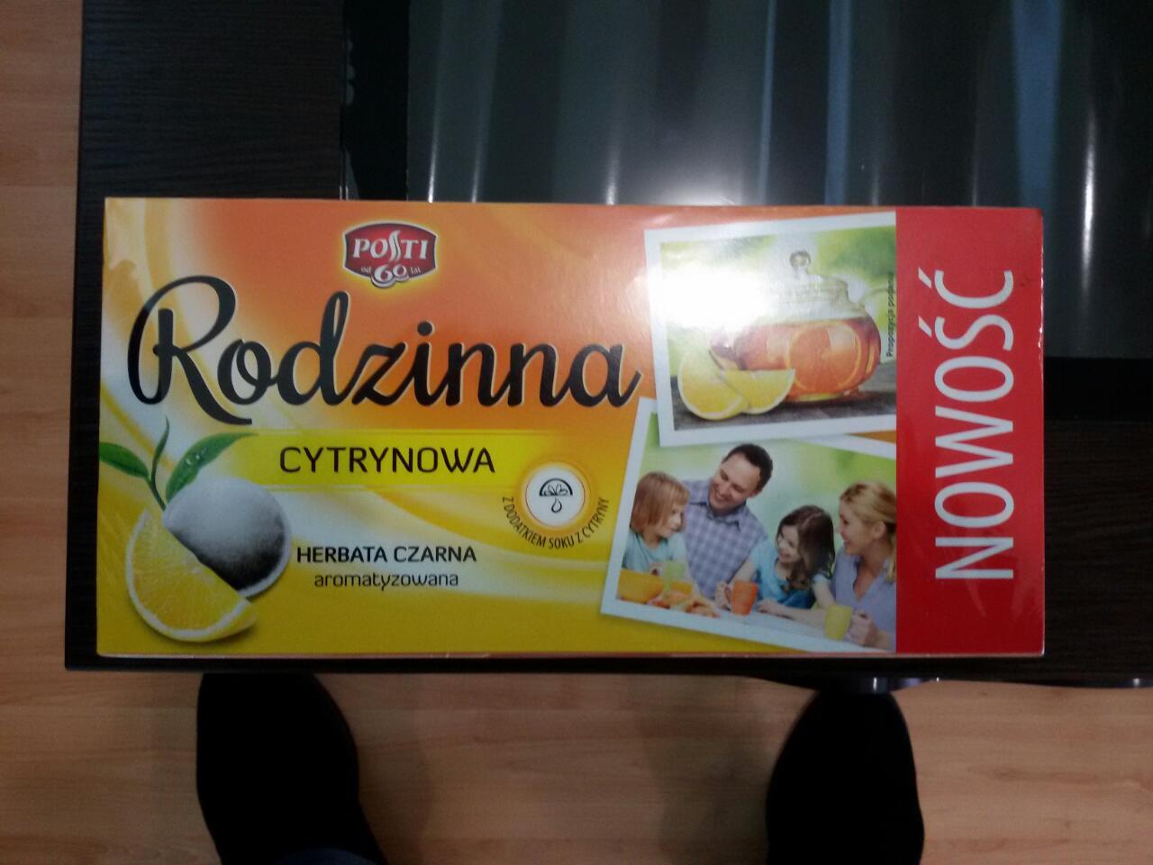 Чай Rodzinna (Родзина) Cytrynowa 100 пакетов. Польша.