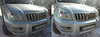 Реснички на фары Toyota Prado 120 2002-2009 г.в. Тойота Прадо 120