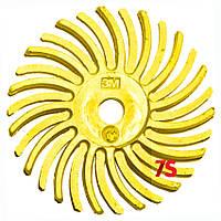 3M 27612 Scotch-Brite™ Bristle RB-ZB Typ C - Радиальная щетка 25,4х3,0 мм, P80, желтая