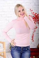 Водолазка женская светлая бледно-розовая.