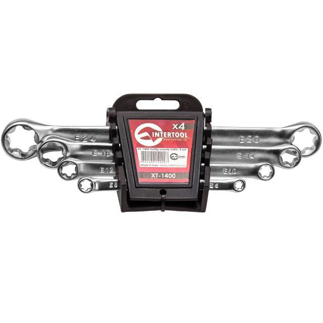 Набор накидных ключей TORX 4шт. INTERTOOL XT-1400