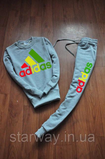 Мужской спортивный костюм Adidas logo | цветное лого