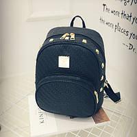 Черный городской рюкзак Плетенка