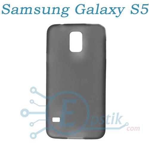 Пластиковый чехол для Samsung Galaxy S5 i9600 / G900H (Черный)