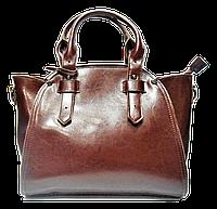 Стильная женская сумка из натуральной кожи коричневого цвета GGD-590800