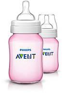 Бутылочка для кормления Philips Avent Natural, 125 мл антиколиковая розовая.