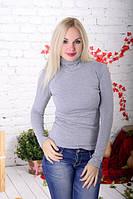 Водолазка женская красивая светло-серая., фото 1