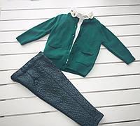 Детский нарядный  костюм - кофта , рубашка, брюки - для девочки на 2- 6 лет
