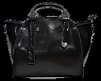 Стильная женская сумка из натуральной кожи черного цвета GGD-590801