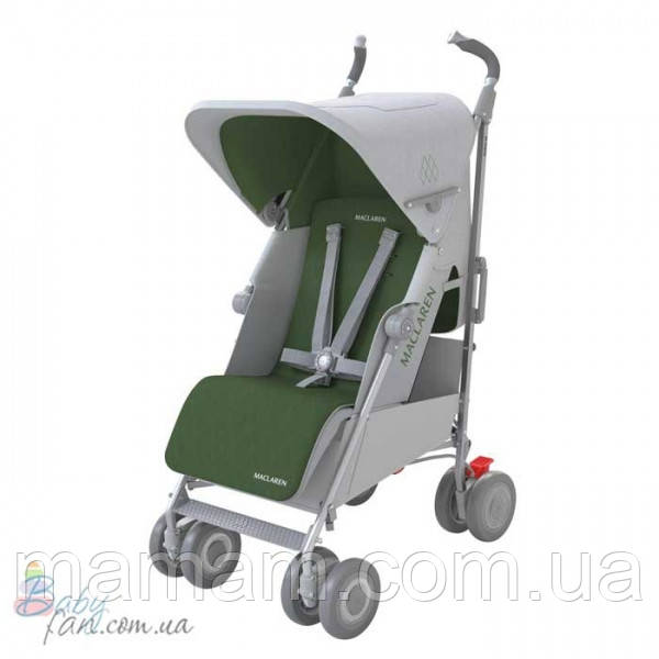 Коляска-трость Maclaren Techno XLR Silver/Highland Green - Интернет-магазин товаров для детей BabyFan.com.ua в Николаевской области